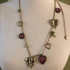 Betsy Johnson charm necklace